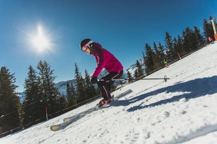 Skifahren Golm